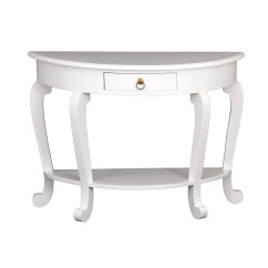 Sale Sofa Tables Diy Pallet Cushions Eiffel Cabriola Solid Wood Timber French Half Round Table White Teak Warehouse Com Amerrich