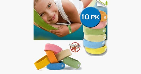 10 Pack Mosquito Bands - Assorted Colors Image