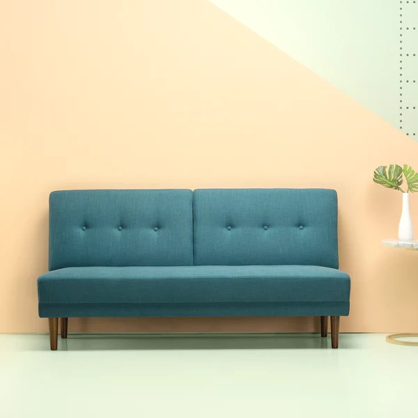 armless sofas mickey mouse flip out sofa ireland juan mid century zinus