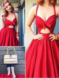 Red Homecoming Dresses Cheap Tea-length Short Prom Dress ...