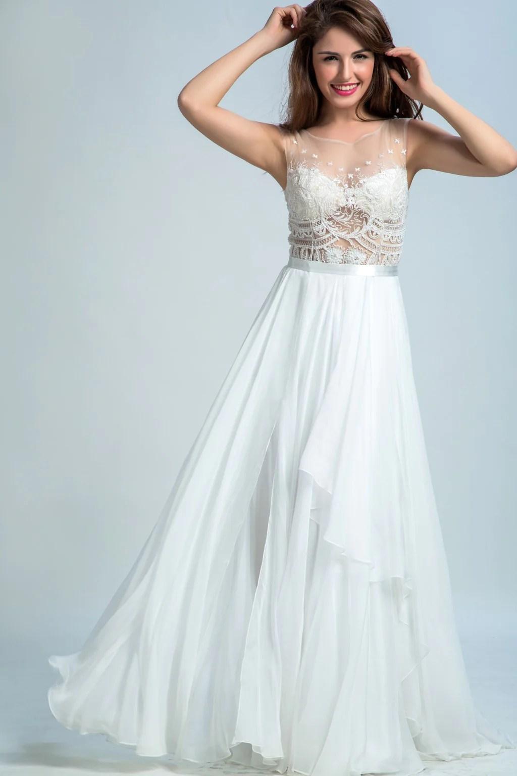 Long White Prom Dresses