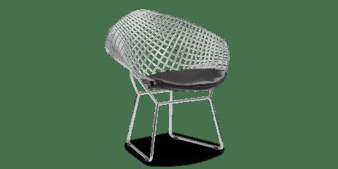 diamond chair replica revolving service in coimbatore bertoia inspired aniline leather black harry designer voga
