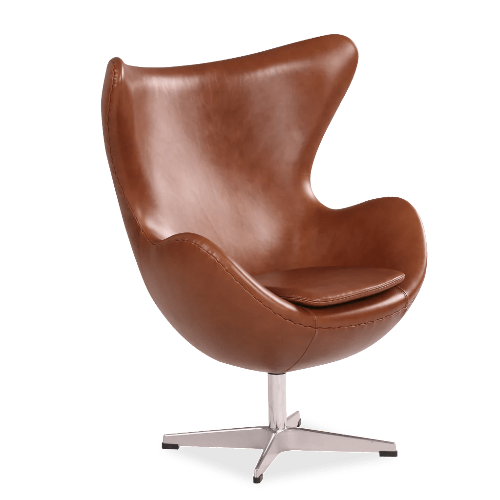 Child Egg Chair Egg Chair For Children Aniline Leather Brown Arne
