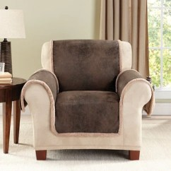 Chair Covers Leather Soft Toddler Slipcovers Surefit Vintage Furniture Cover