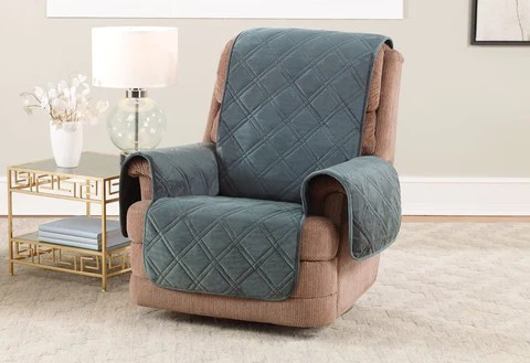 loose covers for queen anne chairs bedroom wardrobe chair valet recliner and slipcovers surefit triple protection furniture cover