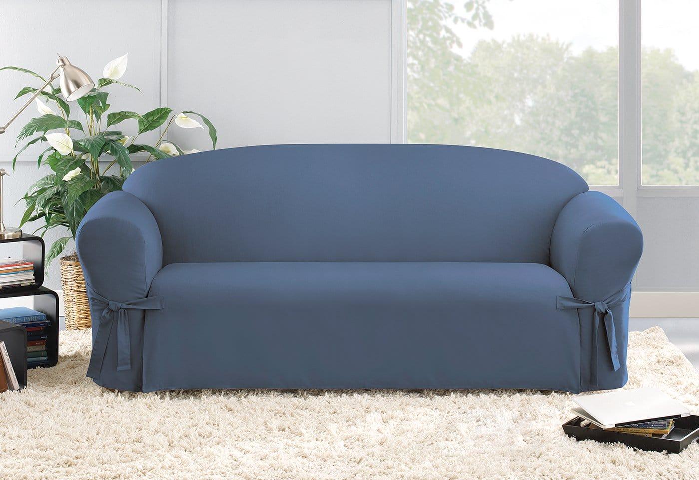 durham one piece sofa slipcover dallas bed dreams cotton duck  surefit