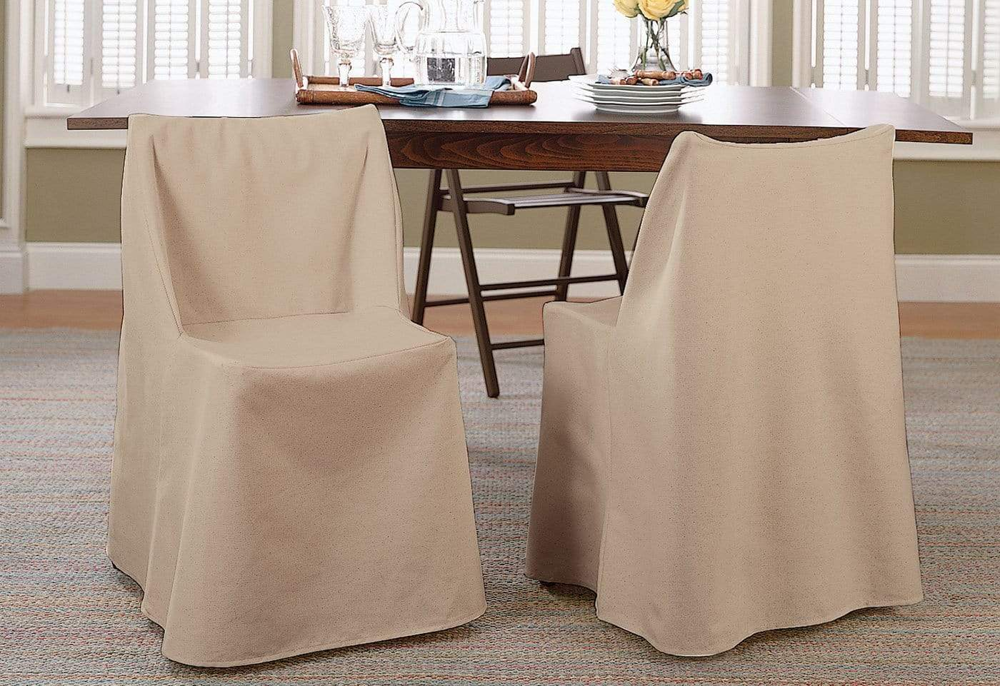 folding chair slipcovers reclining movie theater cotton duck slipcover surefit
