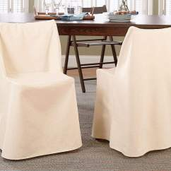 Folding Chair Slipcovers Graco Duodiner Lx High Manual Cotton Duck Slipcover Surefit