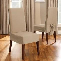 Dining Chair Slipcover Bariatric Potty Cotton Duck Short Surefit