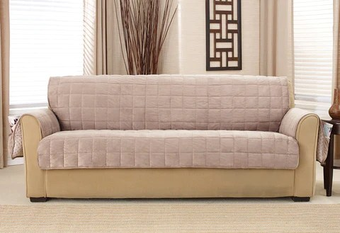 sofa coverings dogs wicker set india pet solutions furniture covers protectors surefit deep pile velvet