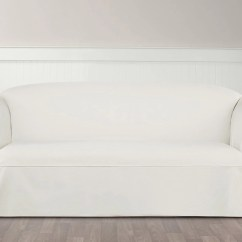 Durham One Piece Sofa Slipcover Reclining Two Seater Essential Twill Straight Skirt Slipcovers With