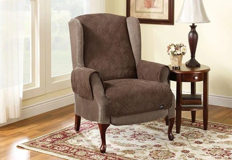 recliner chair covers what is a and slipcovers surefit quilted wing pet throw furniture cover