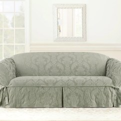 Sage Sofa Slipcovers Ashley Recliner Repair Matelasse Damask One Piece Slipcover Surefit