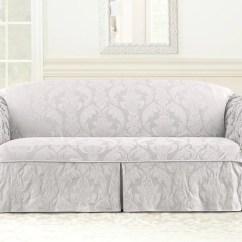 One Arm Sofa Slipcover Cama Matrimonial Costa Rica Matelasse Damask Piece Surefit