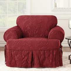 Two Tone Matelasse Damask One Piece Sofa Slipcover L Shaped Designs In Bangalore Chair Surefit