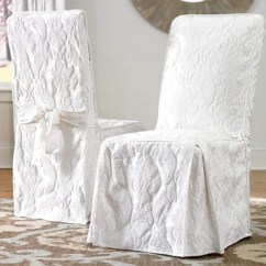 Dining Chair Covers Near Me Posture Care Reviews Slipcovers Surefit Matelasse Damask Long Slipcover