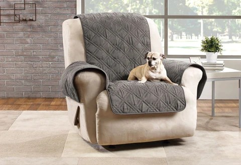 seat covers for chairs with arms chair that turns into twin bed pet solutions furniture protectors surefit microfiber recliner quilted cover