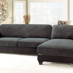 Slipcovers For Sectional Sofa L Shaped Bed Uae Covers Chaise Surefit Stretch Pique Five Piece Slipcover Right
