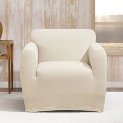 Slipcovers For Living Room Chair Used Table And Chairs Sale Covers Surefit Stretch Morgan Slipcover
