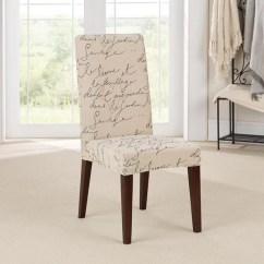 Dining Chair Covers Toddler Table And Chairs Tesco Stretch Pen Pal Short Slipcover Surefit