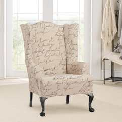 Club Chair Covers Orange Ghost Stretch Pen Pal One Piece Wing Slipcover Surefit