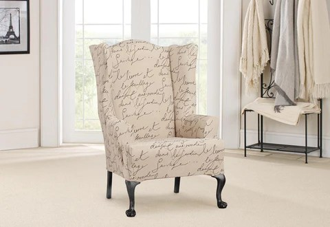 how to make slipcover for wingback chair dining covers buy online slipcovers furniture surefit stretch pen pal one piece wing