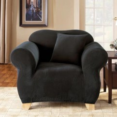 U Shaped Chair Slipcovers Rentals Newark Nj Covers Surefit Stretch Pique One Piece Slipcover