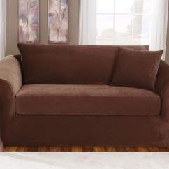 Sure Fit Stretch Pique 3 Piece T Cushion Sofa Slipcover Wooden Come Bed Online Three With Back Surefit