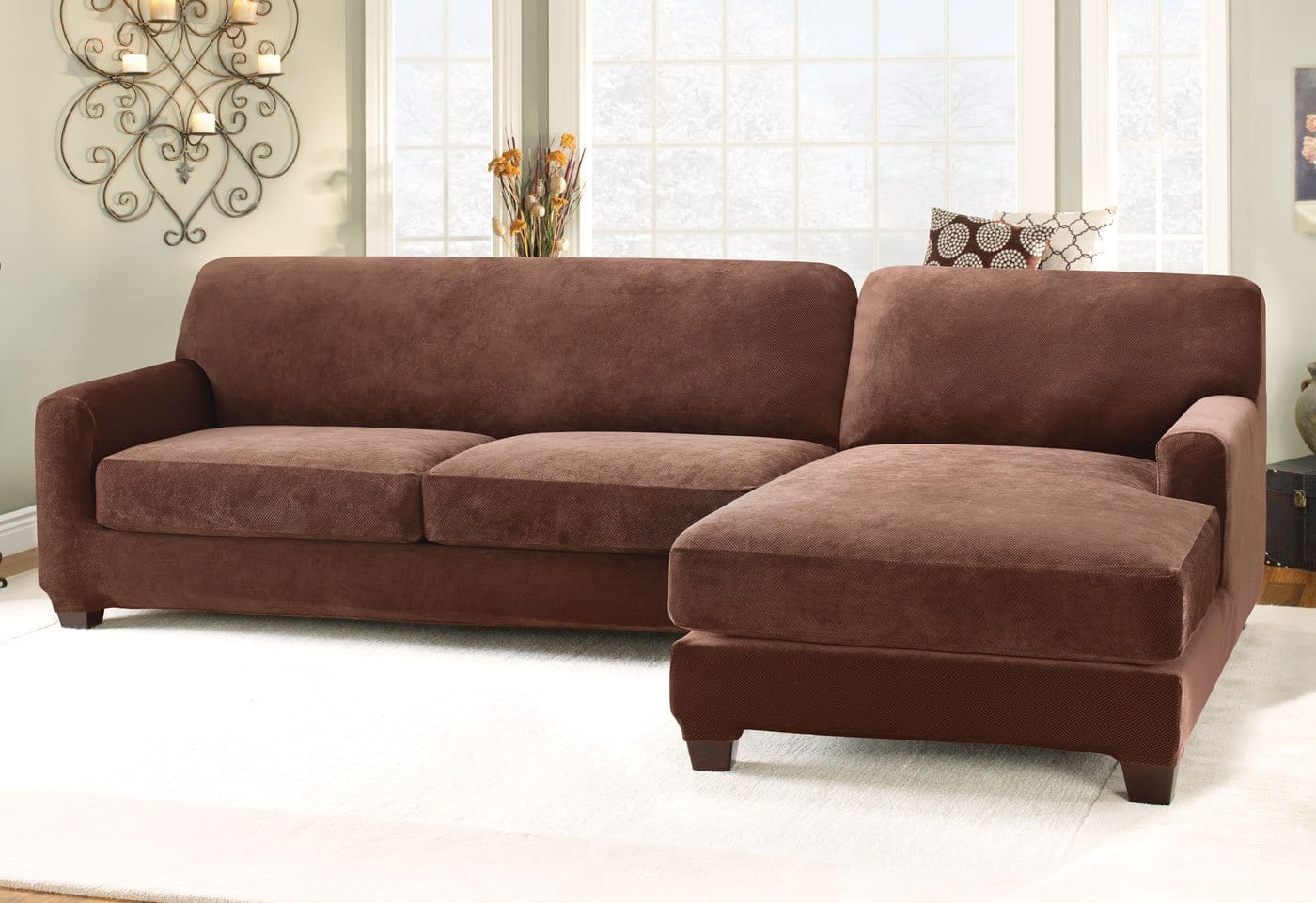left chaise sofa sectional slipcover ikea ps bed stretch pique five piece right