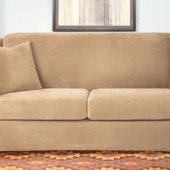 Full Size Sleeper Sofa Slipcover Buy Set In Delhi Stretch Pique Three Piece