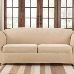 Stretch Morgan 1 Piece Sofa Furniture Cover Two Suite Pique Three Slipcover Surefit