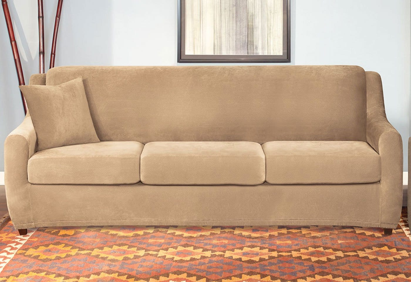 sure fit stretch pearson 3 pc sleeper sofa slipcover full kid bed singapore review home co