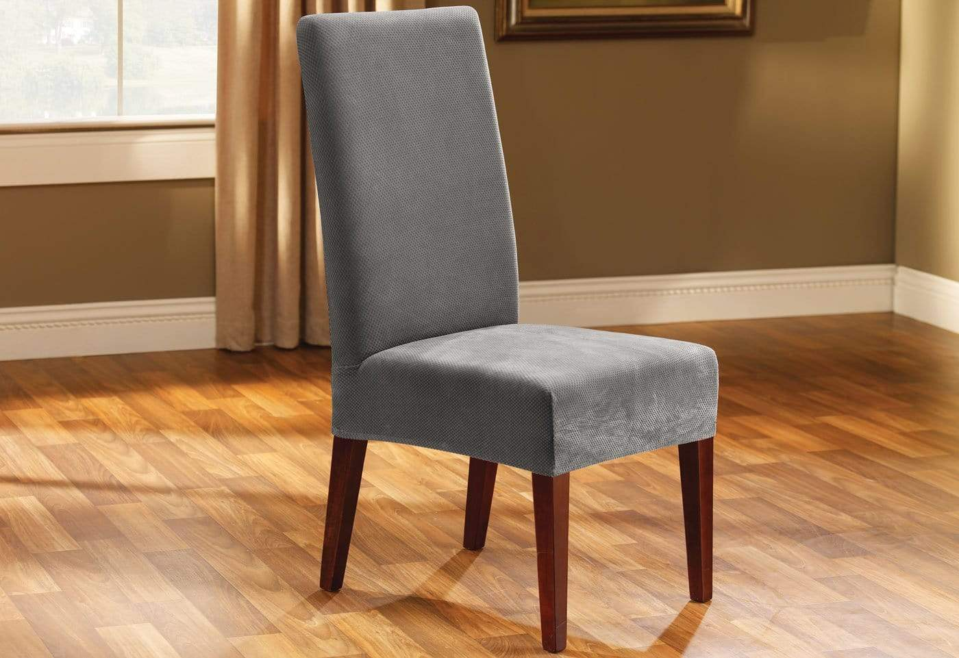 stretch dining chair covers canada party chairs and tables for sale pique short slipcover  surefit