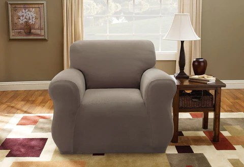 sure fit logan sofa slipcover vinyl sofas chair covers slipcovers surefit stretch pique one piece