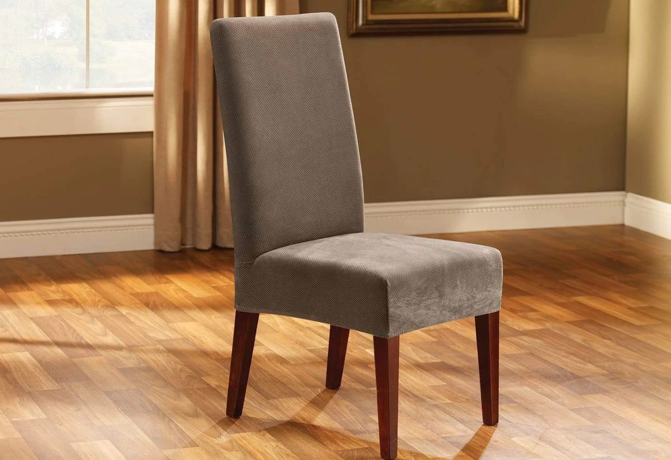 Surefit Chair Covers Stretch Pique Short Dining Chair Slipcover Surefit