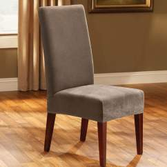 Stretch Dining Chair Covers Etsy Room Pique Short Slipcover Surefit