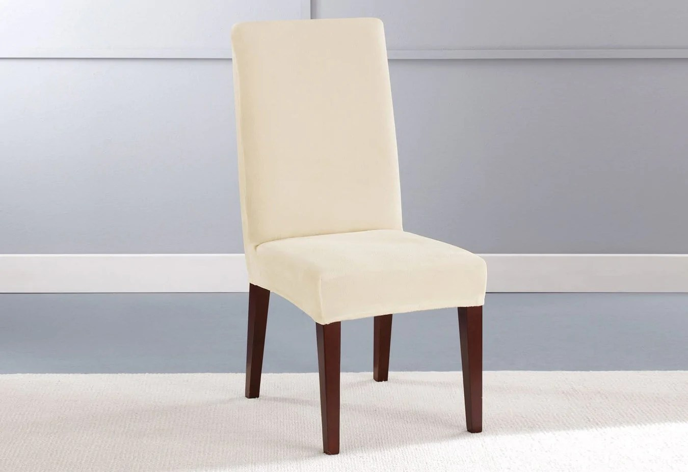 Surefit Chair Covers Stretch Plush Short Dining Chair Slipcover Surefit