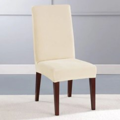 Dining Arm Chair Covers Masoli Cobblestone Swivel Slipcovers Surefit Stretch Plush Short Slipcover