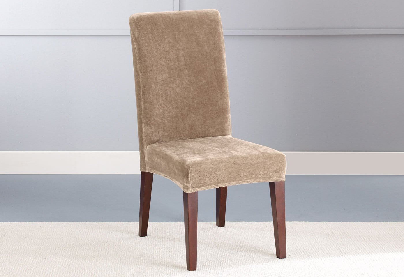 stretch dining chair covers canada stool kitchen plush short slipcover  surefit