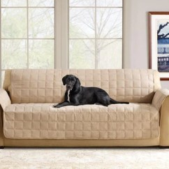Durham One Piece Sofa Slipcover Teal Leather Sectional Slipcovers , Furniture Covers | Surefit