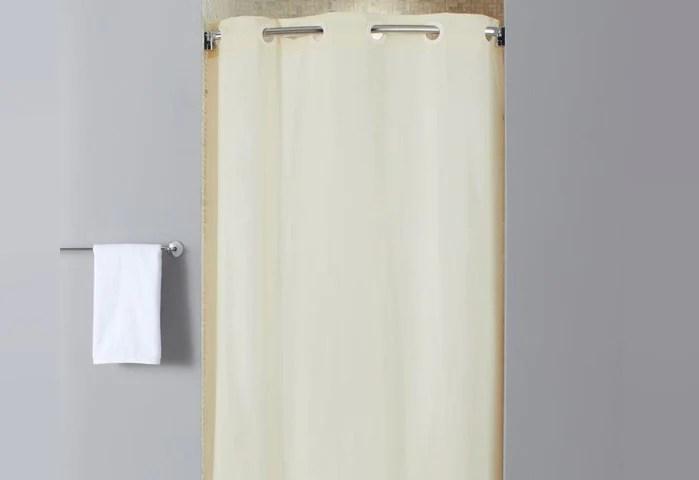hookless stall size vinyl shower curtain