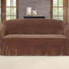 One Arm Sofa Slipcover And Chair Covers Stretch Plush Cinched Piece Surefit