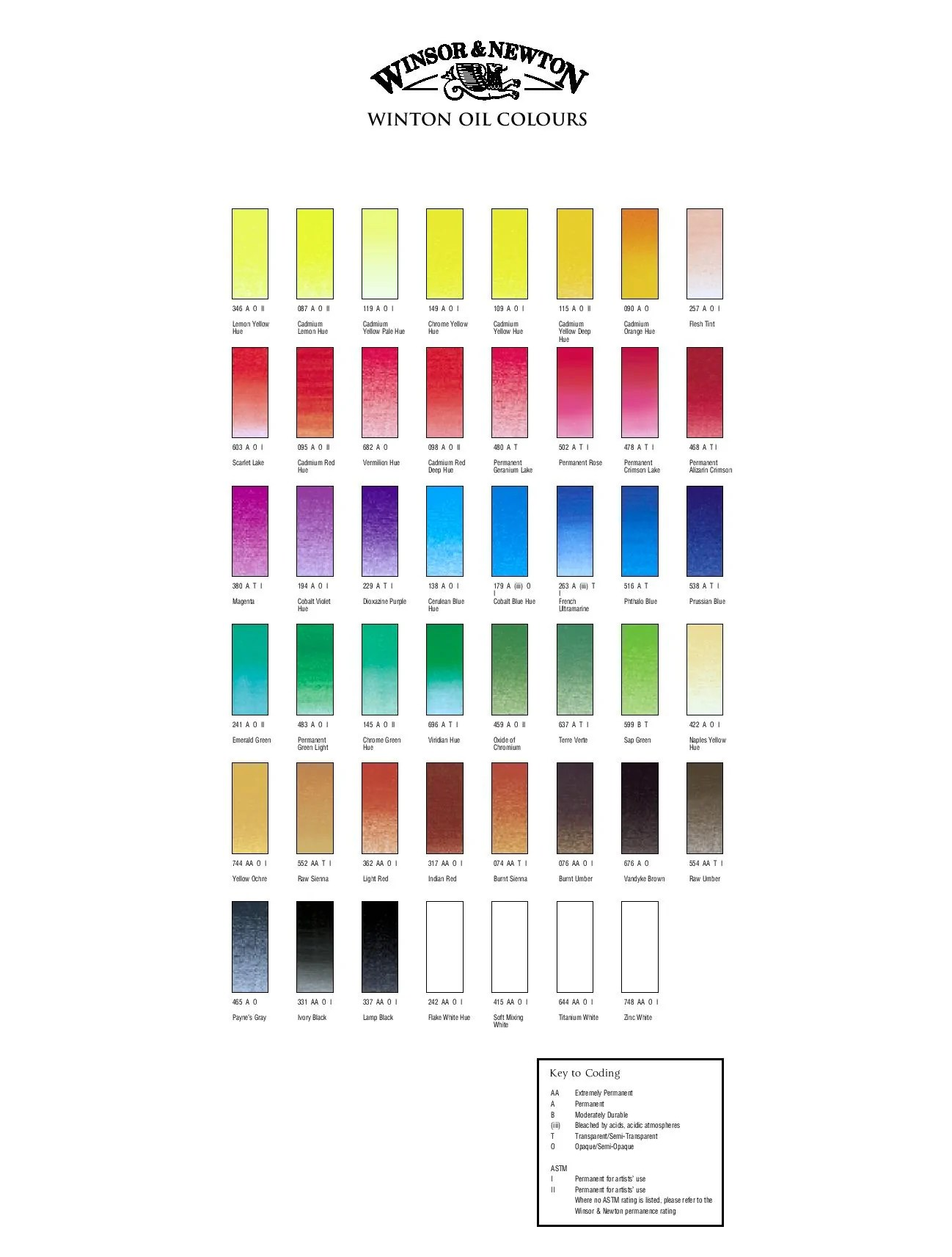 eclick here to download the colour chart   also winton oil ml  art supplies australia rh artsuppliesaustralia