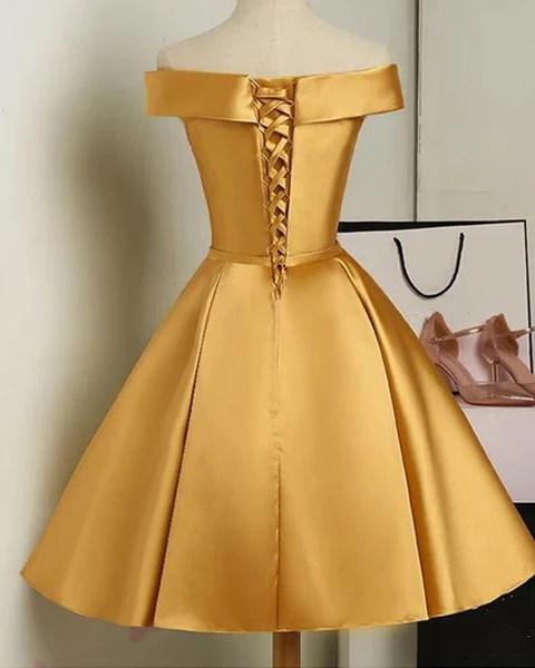 gold color short party