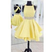 Buy Cross Back Boat Neck Short Party Dress, 8th grade ...