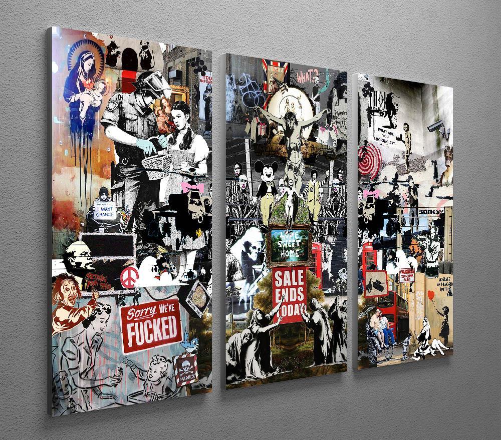 banksy collage 3 split