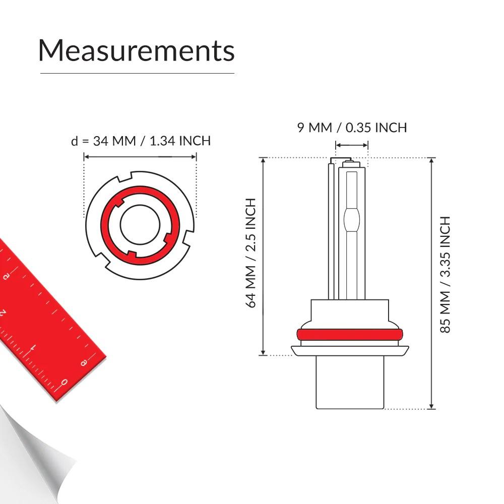 hight resolution of hid headlights 55w hid 9004 single beam conversion kit55w xenon hid 9004 single beam bulb measurements