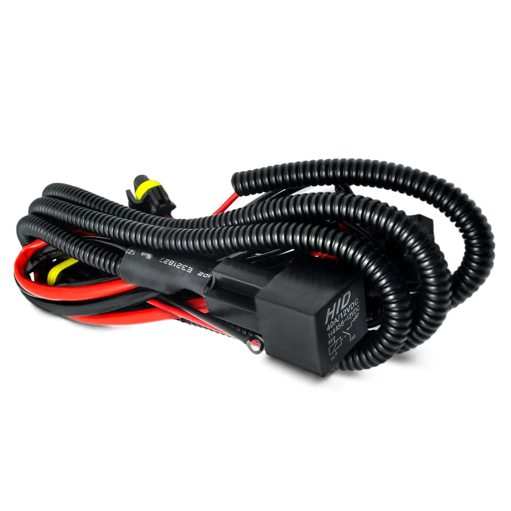 hight resolution of h headlight wire hid headlights universal single beam relay wiring harness on vw mk4 headlight harness