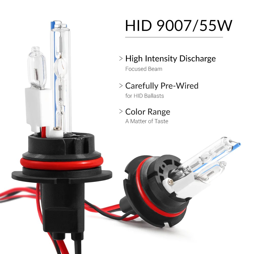 hight resolution of bright 55w 9007 headlight bulbs for excellent vision on the road