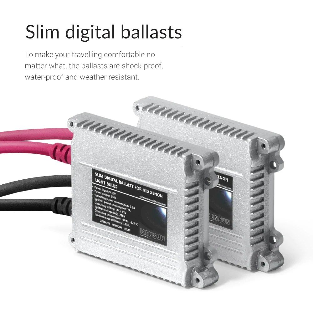 medium resolution of a pair of xenon ballasts with igniters for 35w hid bulbs